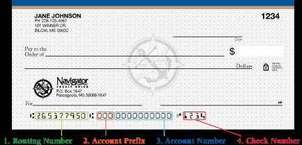 The Anatomy of a Check | Navigator Credit Union