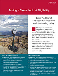 Roth Eligibility ebrochure cover