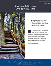 Simplified Employee Pension plans ebrochure cover